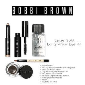 NIB Bobbi Brown Long Wear Eye Kit Beige Gold